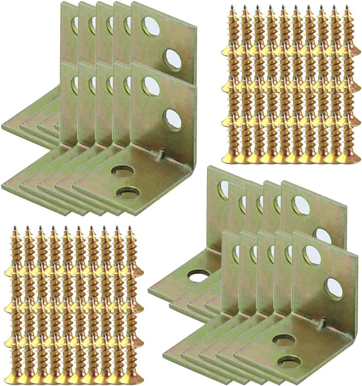 20 x 20 x 16 mm /Ángulo Recto Soportes 90 Grados Corchete Angular Corner Brace Soporte de Esquina con Tornillos LINVINC 10//20 Piezas Soportes de Angulo