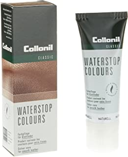 Collonil Waterstop Colors Classic Cream for All Colors. Waterproofs, Cleans, and Conditions All Smooth Leather Made with Real Almond Oil. Made in Germany.