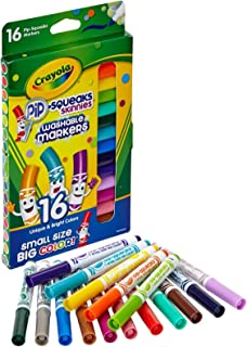 Crayola Washable Pip-Squeaks Skinnies Markers 16-Count per Pack (1-Pack)
