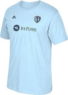 adidas Graham Zusi Sporting Kansas City #8 MLS Men's Player Name & Number T-Shirt Blue