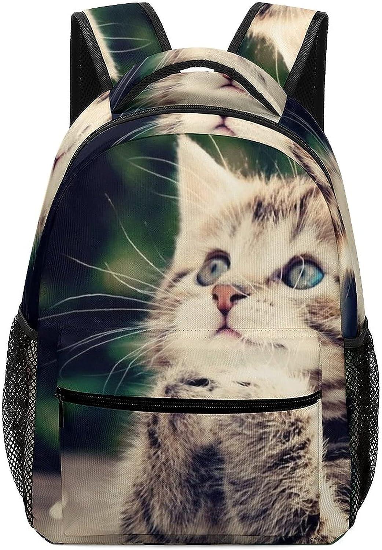 Cute-kitten Max 63% OFF Kid 4 years warranty Backpacks 12.2×5.9×16.5 School Backpack inch