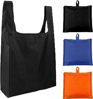 エコバッグ シンプル 折りたたみバッグ 3個セット 無地 防水 コンパクトに収納 シュパット MOZ エコバック コンビニ ショッピングバッグ コンビニ マイバッグ