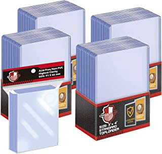 100 ct Toploaders Trading Card Sleeves Set, Top Loaders Penny Sleeves Compatible with Standard Card, Trading Card, MTG, Yu...