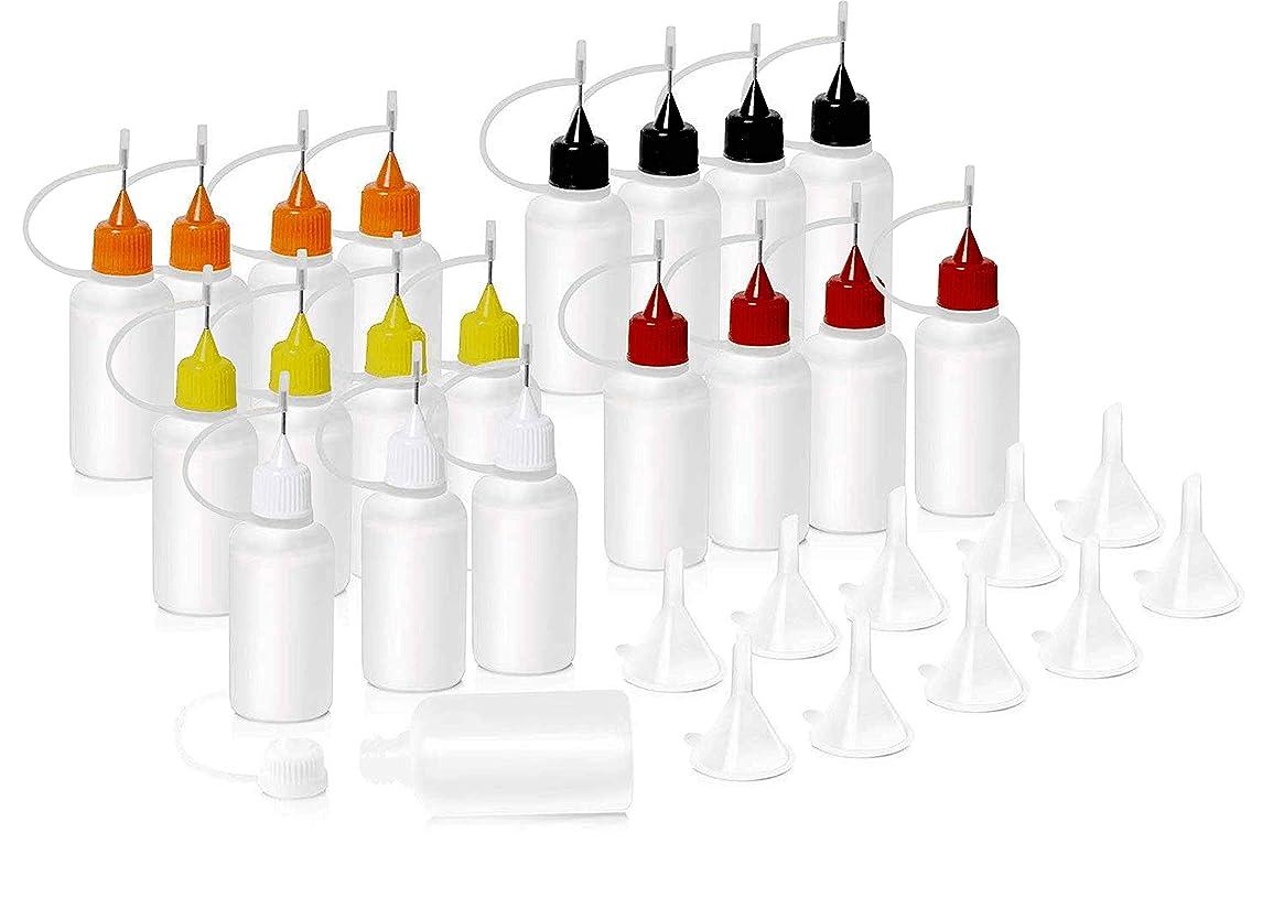 まさに歯契約するHNYYZL 針付き スポイトボトル プラスチック製 電子タバコ 詰め替え容器 液体 貯蔵用 ニードルチップ付 20书漏斗10必备空瓶用于电子烟液体注射