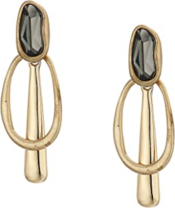 Stone Geometric Drop Earrings