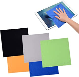 ECO-FUSED Large Microfiber Cleaning Cloths - 5 Pack - 8 x 8 inch - Perfect for Wide Screen TVs, Large Computer Monitors- A...