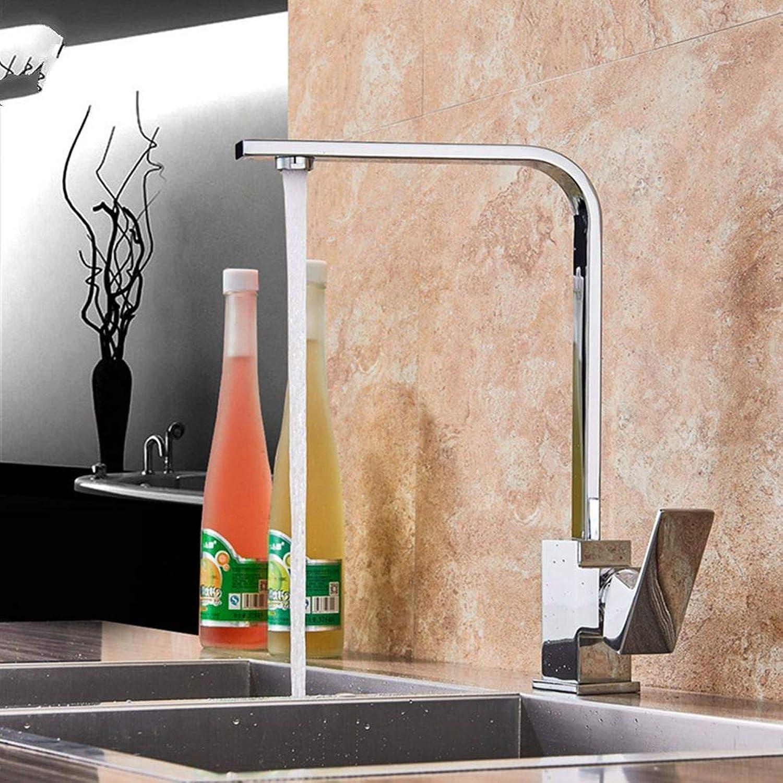 FZHLR Kitchen Faucet Single Lever Bathroom Kitchen Mixer Tap Deck Mounted Bathroom Kitchen Hot and Cold Water Mixer Tap Cran,Chrome