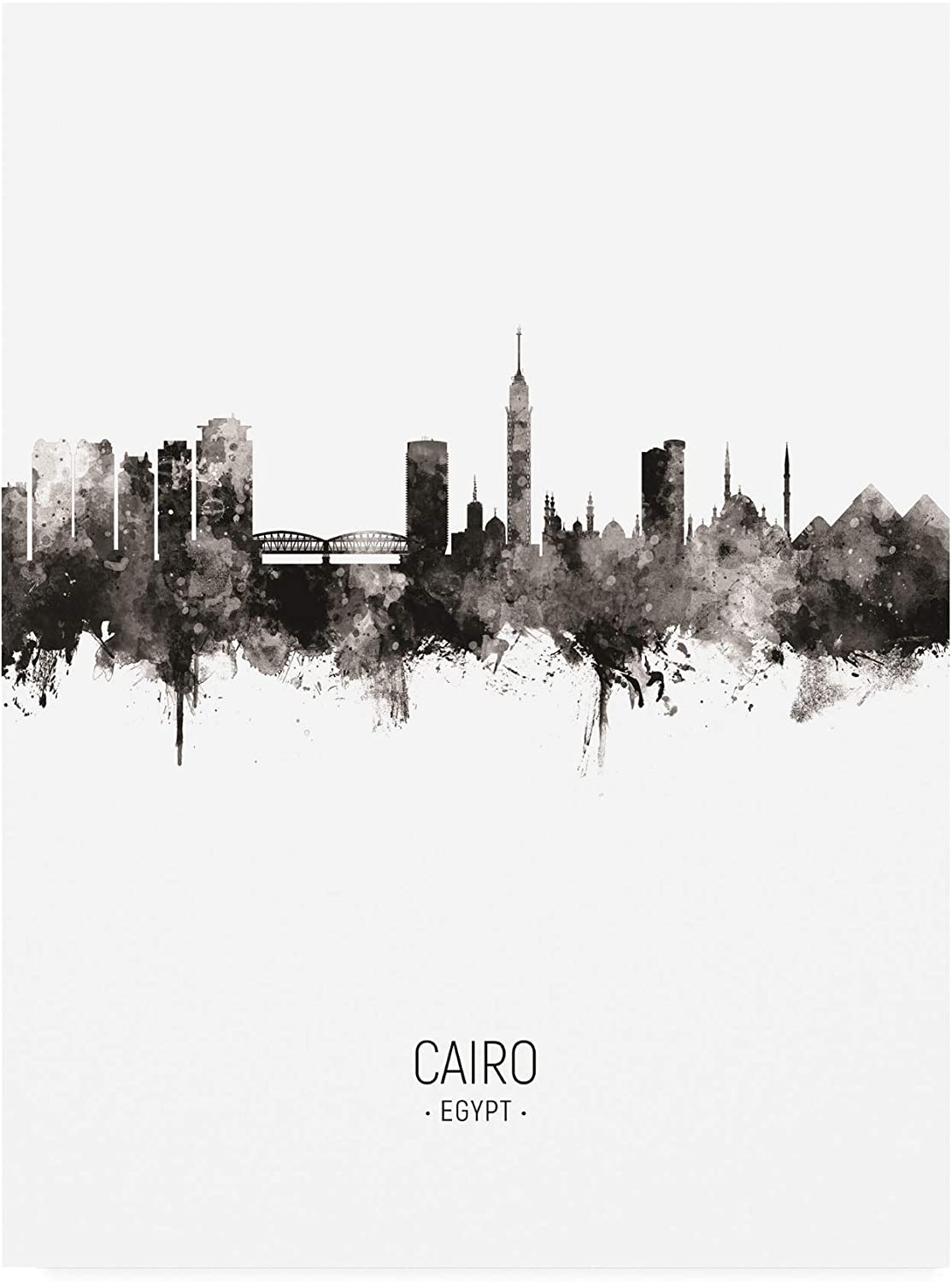 Trademark Fine Art Cairo Egypt Skyline Portrait II Michael To by Gorgeous At the price