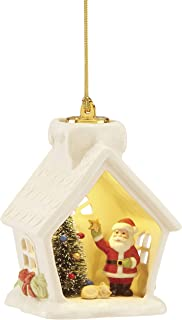 Lenox 886876 Light-Up Santa House Ornament