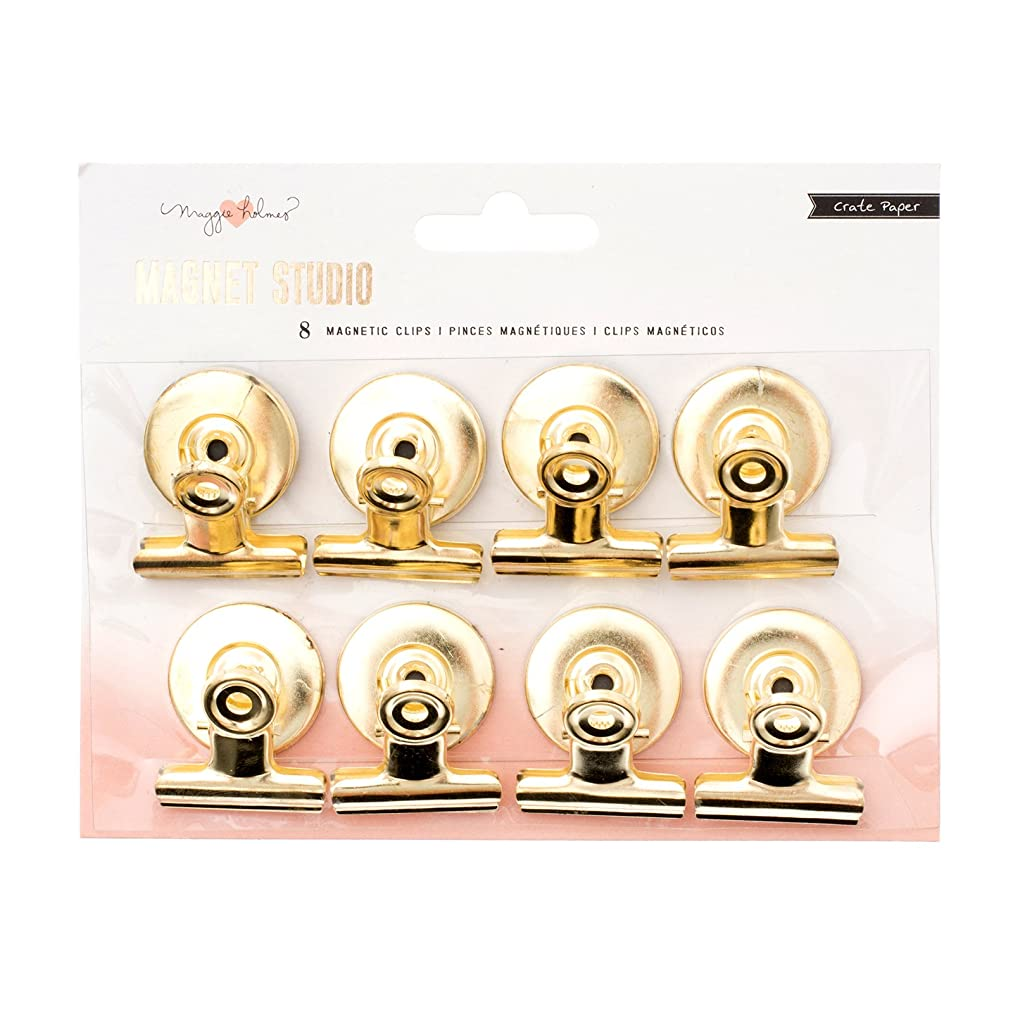 American Crafts 8 Piece Gold Clips Maggie Holmes Magnet Studio