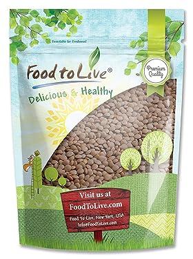 Red Lentils Whole, 8 Ounces - Kosher, Raw, Vegan, Sproutable, Bulk