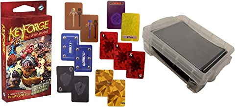 Keyforge Call of The Archons Starter Set Card Game - Keyforge Deck with Keyforge Tokens and Card Box and Card Sleeves. The Deck Box is Perfect for Easy Carry and Storage of This Fantasy Flight Games
