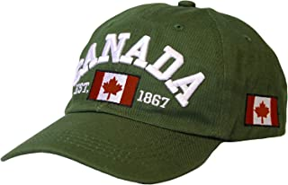 WITHMOONS Cotton Baseball Cap Canada Maple Flag Embroidery LX1382