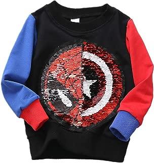 Flip Sequins for Boys Kids Girls Magic Sequin Fashion Hoodies & Sweatshirts Cotton Long Sleeve (Size 3-8 Years)