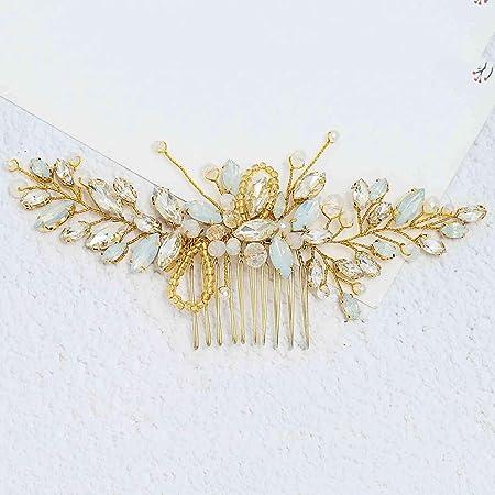 Opal Wedding Comb Wedding Comb ~ TC-2435 Opal and Crystal Bridal Hair Comb Bridal Comb Opal /& Crystal Bridal Comb Wedding Hair Comb