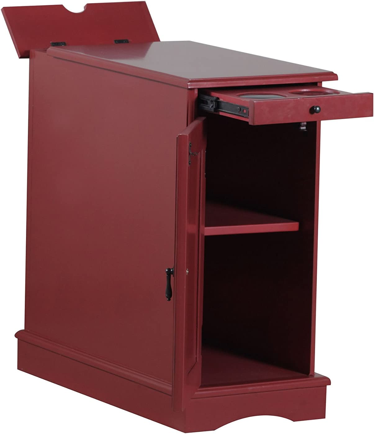 Powell Furniture Butler Accent Table, Red, Small,