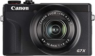 Canon PowerShot G7X Mark III Digital 4K Vlogging Camera, Vertical 4K Video Support with Wi-Fi, NFC and 3.0-Inch Touch Tilt...