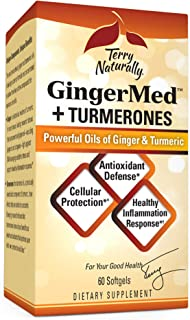 Terry Naturally GingerMed + Turmerones - 60 Softgels - Promotes Healthy Inflammation Response, Cellular Protection & Antio...