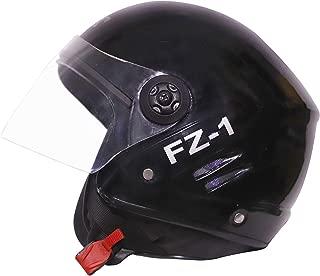 Zeenex Track Super Half Helmet (Black, L)