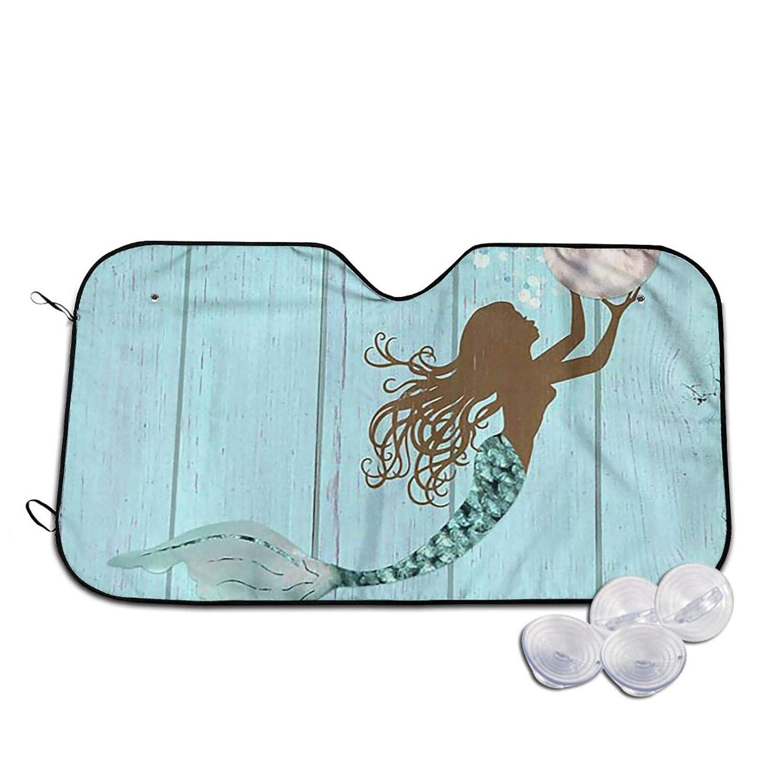 Bargain Kenaat Car Windshield Sun Shade - Woo A Mermaid Huge Pearl Bombing free shipping Holds