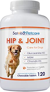 Sponsored Ad - Salveo Petcare Glucosamine for Dogs 800mg Advanced - Hip and Joint Supplement with MSM Chondroitin and Vita...