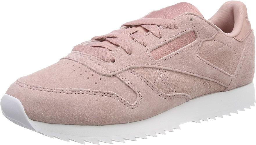 Reebok Cl LTHR Ripple, Chaussures de Gymnastique Femme