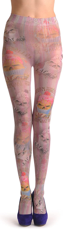 Gothic Cupcakes - Multicoloured Designer Pantyhose (Tights)