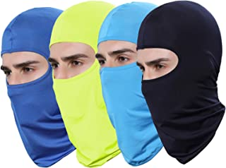 GANWAY Pack of 4 Thin Sun Balaclava Winter Ski Mask for Men Football face mask Airsoft Helmet