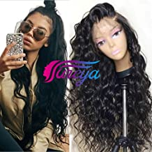 Glueless Lace Front Wigs for Women Natural Wave Pre-plucked Hairline with Baby Hair Heat Resistant Fiber Synthetic Lace Wigs 24 inch …