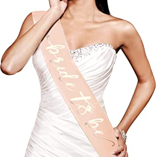 Konsait Rose Gold Bachelorette Party Bride to Be Sash, Bachelorette Bride to Be Decoration for Bride Bride Shower Gift Engagement Party Decoration Girls Ladies Night Out, Hen Party Accessories