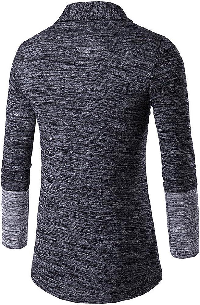 Men Cardigan Knit,Men's Autumn Winter Sweater Cardigan Knit Knitwear Coat Jacket Sweatshirt