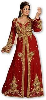 MEHREEN CREATION Dubai Kaftan Modern KHALEEJI TAKSHITA Dress for Women Gown 6144A