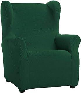 a80b24e5fbe Jarrous Funda de Sillón Orejero Elástica Modelo Libia, Color Verde Botella,  Medida 80cm de