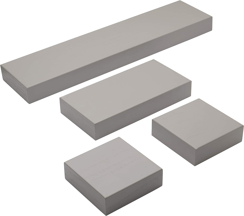 Melannco Chunky Floating 新作製品 世界最高品質人気 Shelves Set お中元 4 Gray Of