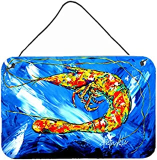 "Caroline's Treasures MW1226DS812 Ice Blue Shrimp Wall Or Door Hanging Prints, 8"" x 12"", Multicolor"