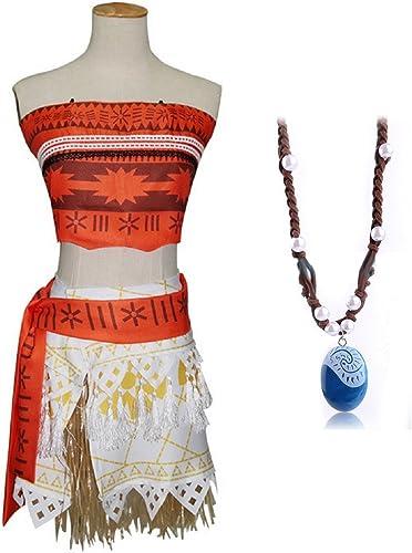 Inception Pro Infinite ( Größe M ) Komplettes Kostüm - Enth  die Vaiana Moana Halskette - Frauen - Karneval - Halloween - Verkleidung - Cosplay - Erwachsene