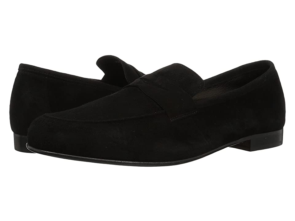 Massimo Matteo Suede Penny Loafer (Black Suede) Men