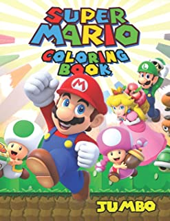 Super Mario JUMBO Coloring Book: 75 Exclusive Illustrations with Mazes and Puzzles