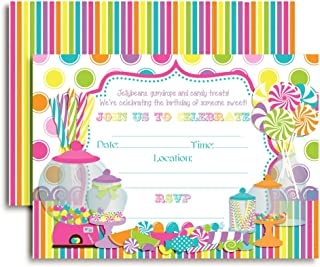 candy birthday party invitations