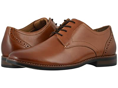 Nunn Bush Fifth Ward Flex Plain Toe Oxford (Cognac) Men