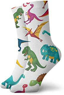 Verctor Juguete de Dibujos Animados Dinosaurio Niños Dinosaurio Calcetines Largos Medias Suaves 1 par Calcetines Deportivo...
