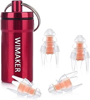Wimaker高性能防水耳栓 2ペア クリスマスツリーの外形デザイン と寝る フィルタノイズ