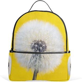 MASSIKOA Withered Dandelion Yellow Laptop Backpack Casual Shoulder Daypack for Student School Bag Handbag - Lightweight