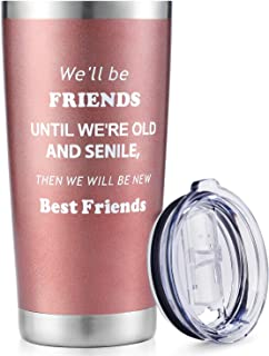 Best Friends Gifts for Women 20 OZ Wine Tumbler - We Will Be Best Friend - Coffee Travel Mug Cup 2020 Funny Best Christmas...