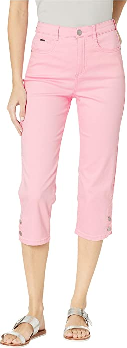 Soft Hues Denim Suzanne Capris in Pink