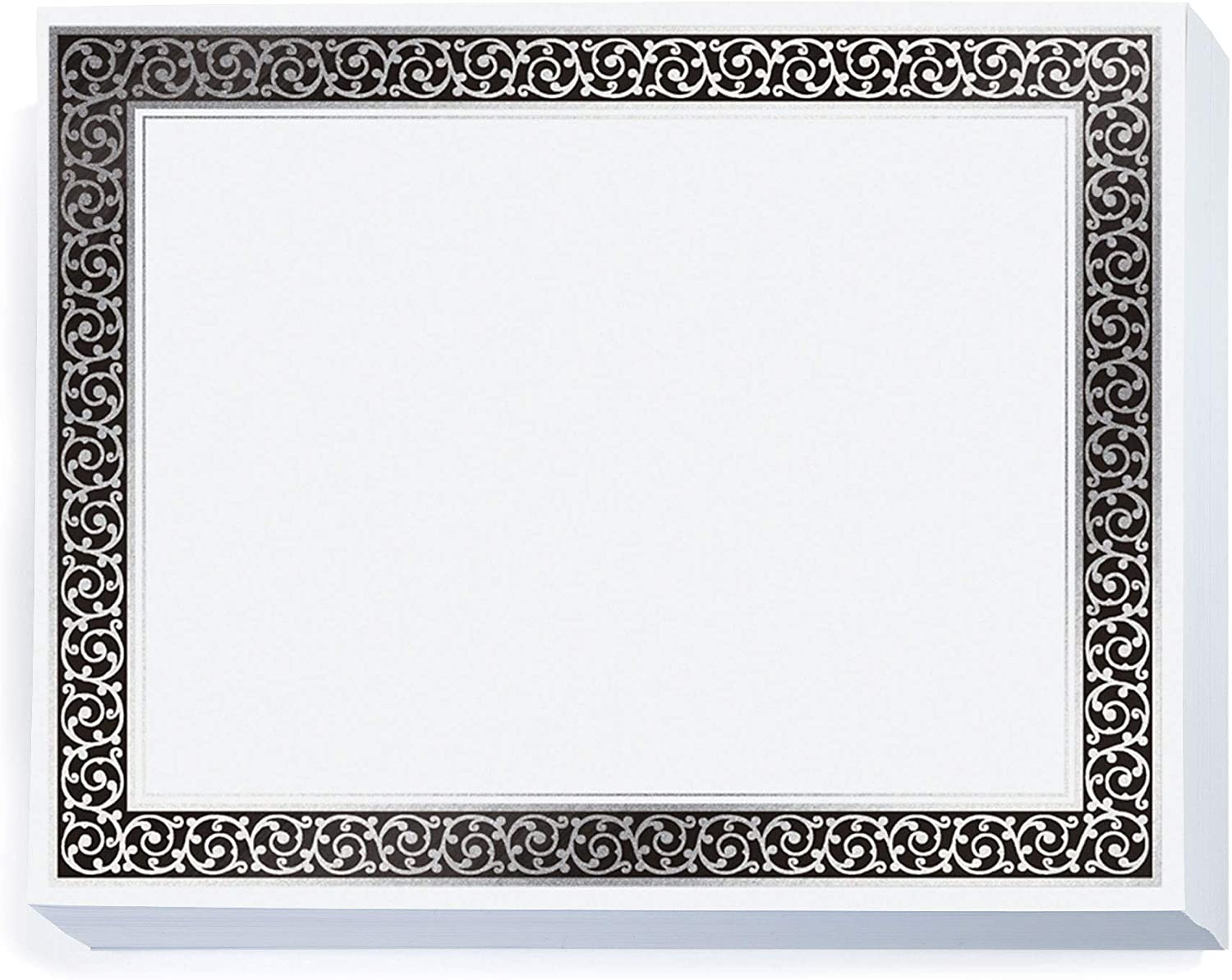 PaperDirect Emporium Specialty White and Fixed price for Dealing full price reduction sale Certific Silver Black