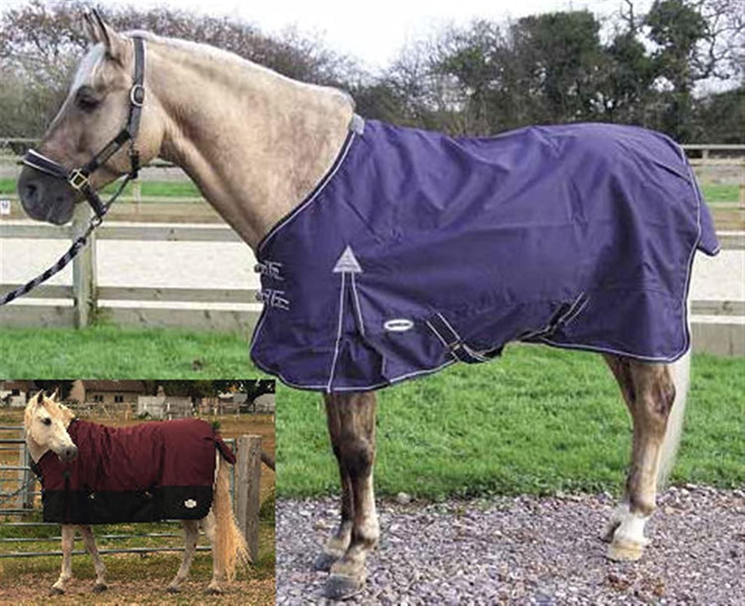 Rhinegold Torrent Lightweight Summer Turnout Rug Navy 7'0