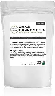 Akira Matcha 100g - Organic Premium Ceremonial Japanese Matcha Green Tea Powder - First Harvest, Radiation Free, No Additi...
