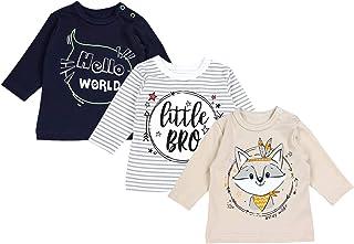 TupTam Blusas de bebé, Manga Larga con Estampado, Paquete de 3 uds.