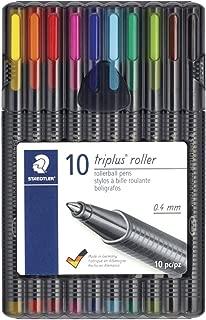 Staedtler-Mars 1596061 Staedtler Triplus Roller Ball44; Assorted Colors - Pack of 10